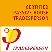 Certified passive house tradesperson graphic